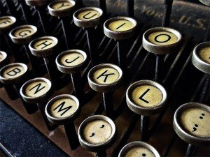 Typewriter keys by Joseph Hart