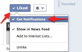 Facebook Page Notification Setting