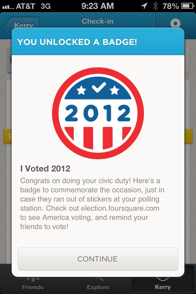 Voter Foursquare Badge