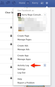 Facebook Gear Activity Log