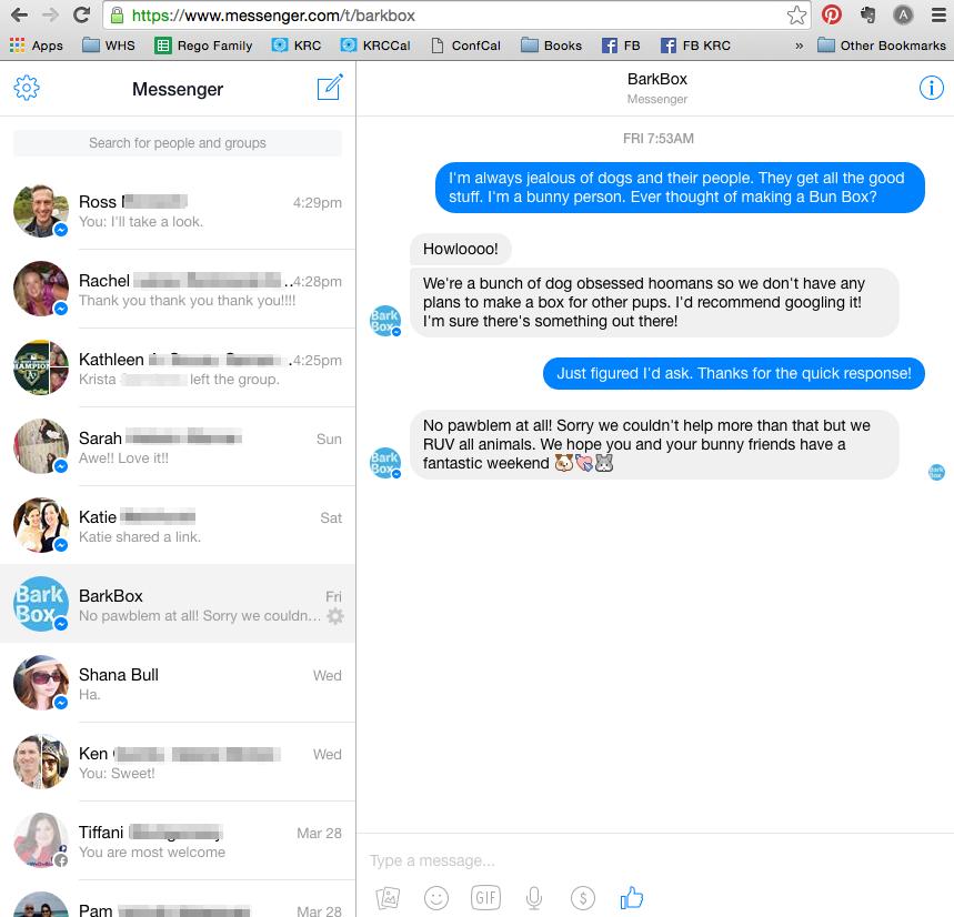 Messenger facebook home