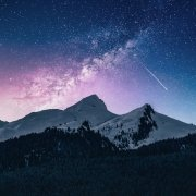 Stars and mountain range | rockstar