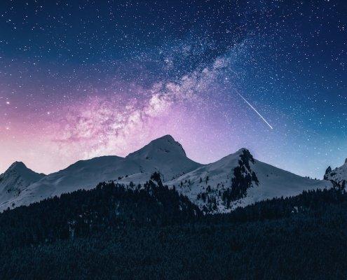 Stars and mountain range | rockstar