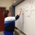 Kerry Rego teaching social media at Sonoma State University