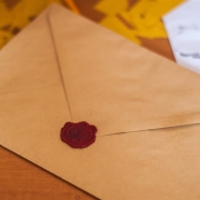 brown-paper-envelope-on-table-linkedin invitations