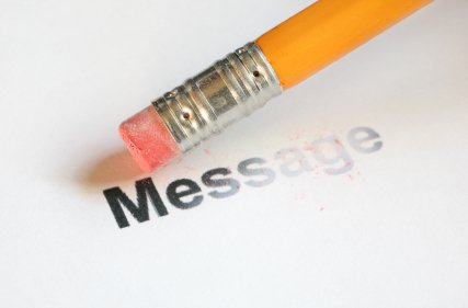 pencil deleting message