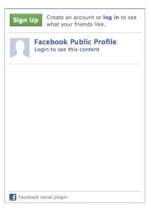 Blank facebook like box plug in