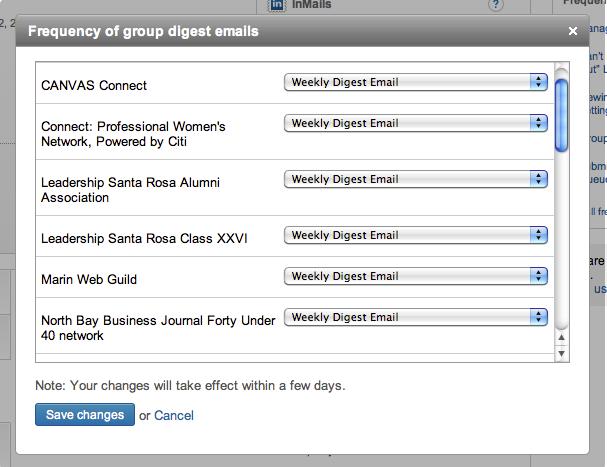LinkedIn Group Notification Settings Multi