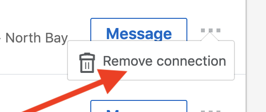 remove connections on linkedin