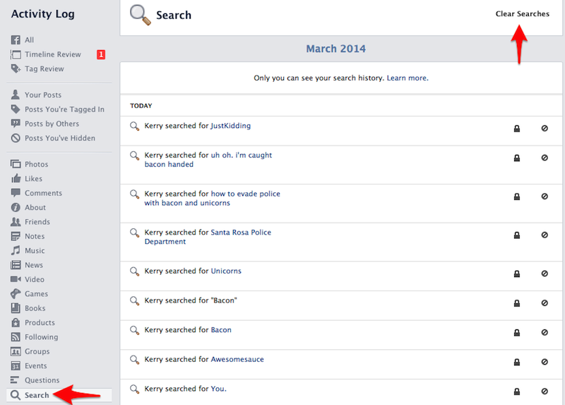 How to Clear Your Facebook Search History - Kerry Rego Consulting
