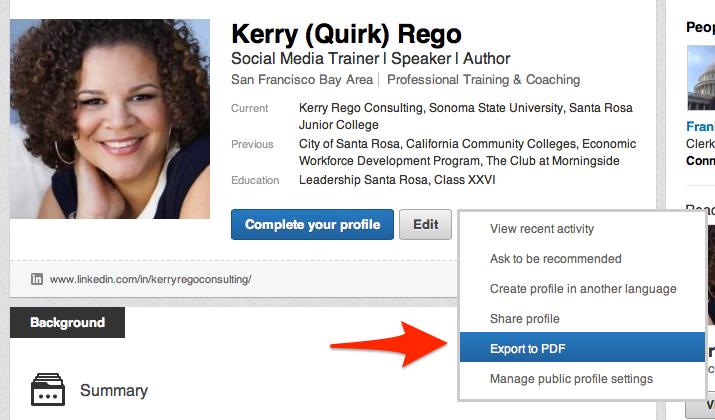 Backup Your LinkedIn Profile