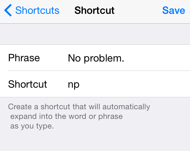 iOS Shortcut