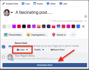 how to schedule a facebook post image 3