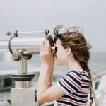 clarity simplicity woman telescope