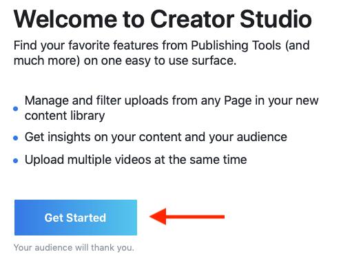 Creator Studio Get Started