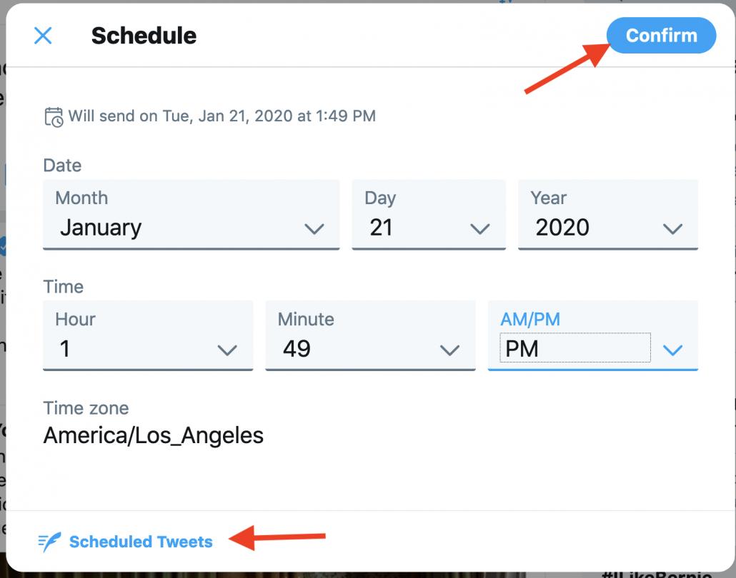 Twitter scheduler screenshot 3