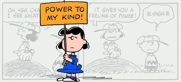 Peanuts Lucy Fussbudget to Feminist Exhibit